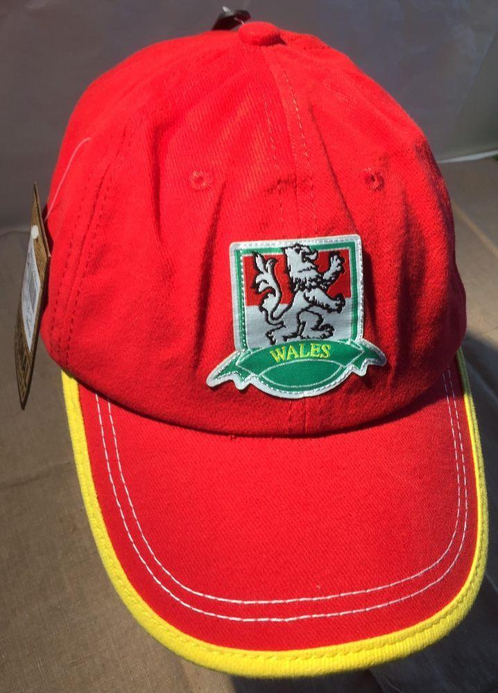 Wales National Team Welsh Pride Cap Hat Adjustable Strap Back One Size New W Tag #NationalPassion #TmpldroedcenedlaetholCymru