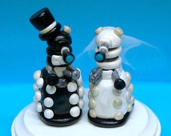 Dalek Wedding Cake Toppers - Custom Wedding Cake Topper - Doctor Who - noce - gâteau - souvenir
