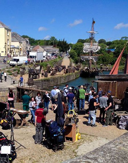 Filming Poldark at Charlestown