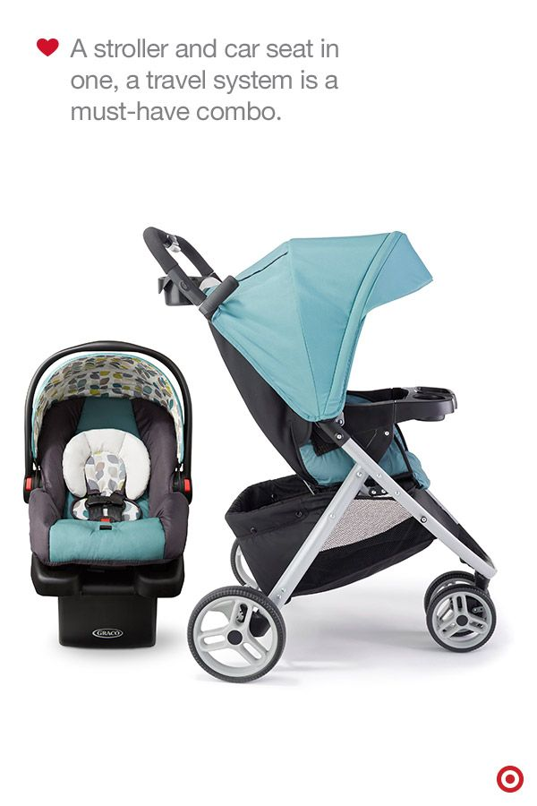 Travel systems are 3-piece stroller systems that include an infant car seat, stroller and car seat base. These strollers, like the Target-exclusive Graco Pace in Boden, usually have a parent tray (Can you say cup holders!), child's tray, a peekaboo window, easy one-hand fold and more. Plus, they truly grow with your baby. This just might be the perfect stroller for your Baby Registry.