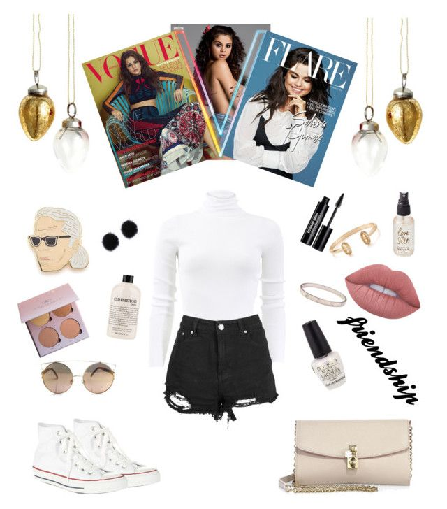 """Casual & Classy 👰👸"" by evaskar on Polyvore featuring H&M, Michael Kors, Boohoo, Converse, Lime Crime, Olivine, Edward Bess, philosophy, Georgia Perry and Cartier"