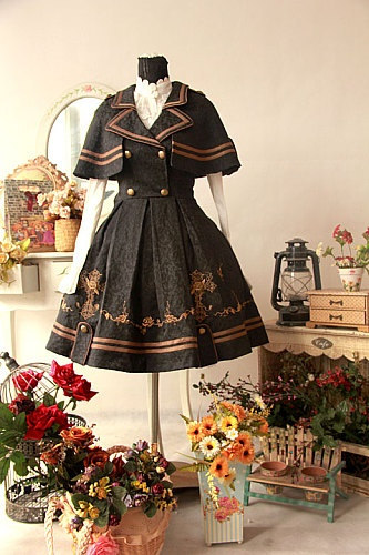 [Infanta. Infants Hanoi Tower LOLITA * Butterfly Cross * uniform wind JSK shawl suit 2 colors - Taobao