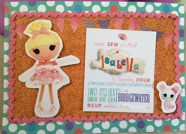 lalaloopsy party invite
