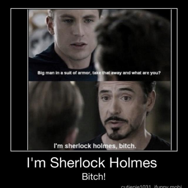 Im sherlock holmes...: Robertdowneyjr, Robert Downey Jr, Captain America, Irons Man, Movie, Funny Stuff, Ironman, Sherlock Holmes, The Avengers