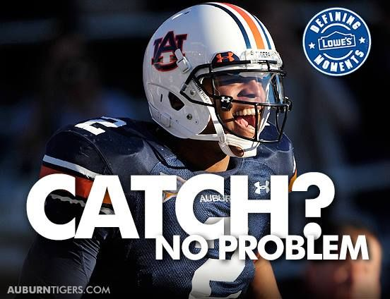 Lowe's #DefiningMoments: Who remembers Cam's TD catch from Kodi Burns against Ole Miss in Oxford in 2010? #Auburn hosts the Rebels on October 5.