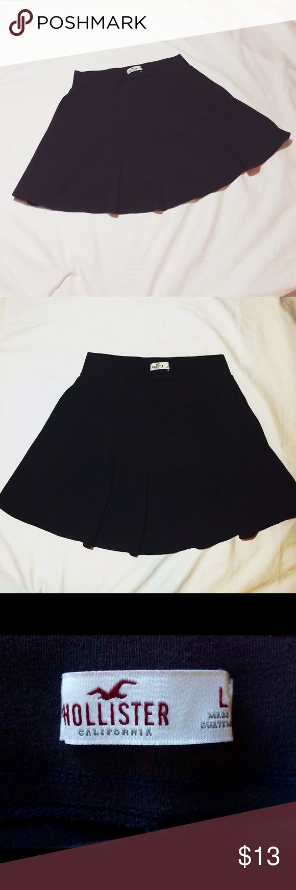 Black Skirt Casual black skirt , comfortable waistband soft and stretchy 💕 Hollister Skirts Circle & Skater