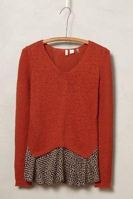 Prima idee voor oude trui en een mooie stof als schootje----------