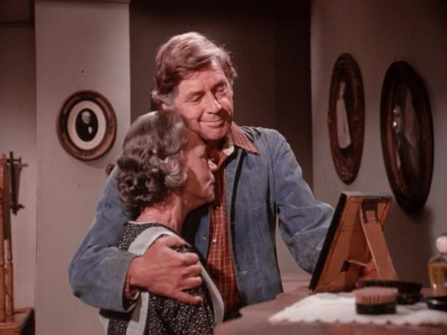 Ellen Corby | John (Ralph Waite) hugs his mother (Ellen Corby) now understanding ...