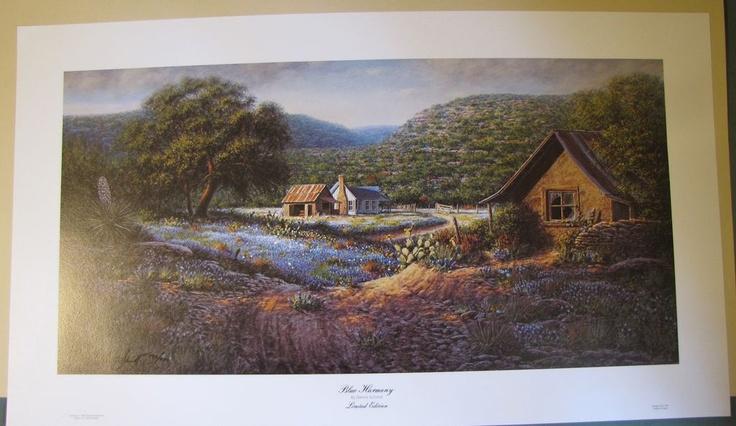 1982 Limited Edition Print, Dennis Schmidt, BLUE HARMONY