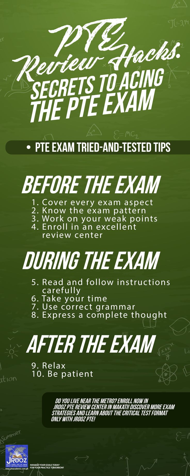 PTE Review Hacks: Secrets to Acing the PTE Exam - For most PTE students, exam success comes through working steadily toward their score goal. This is when PTE exam preparation schemes become crucial. It is vital that you study the critical points and acclimate to the demands of each test component to accomplish your score goal.