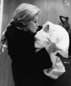 Joan Rivers with her newborn daughter, Melissa ~ January 1968