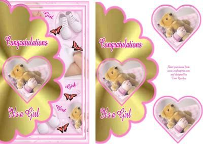 A nice card to celebrate the birth of a little girl.