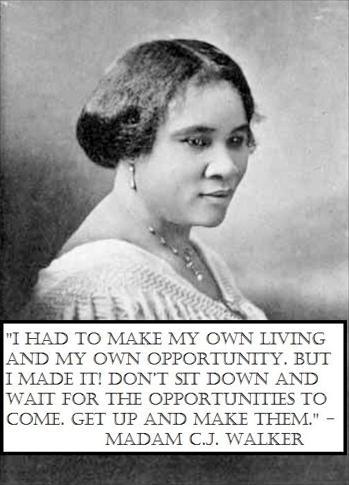 Madam Cj Walker Quotes Glamorous 12 Best National History Poster Ideas Images On Pinterest  Black . Decorating Inspiration