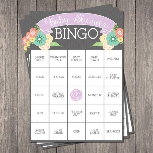 Free Baby Shower Bingo Printable on prettymyparty.com