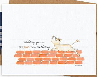 Funny Birthday Card Cat Pun Greeting Fun Girlfriend Wife Bestie Sister Boyfriend Husband Friend For Him
