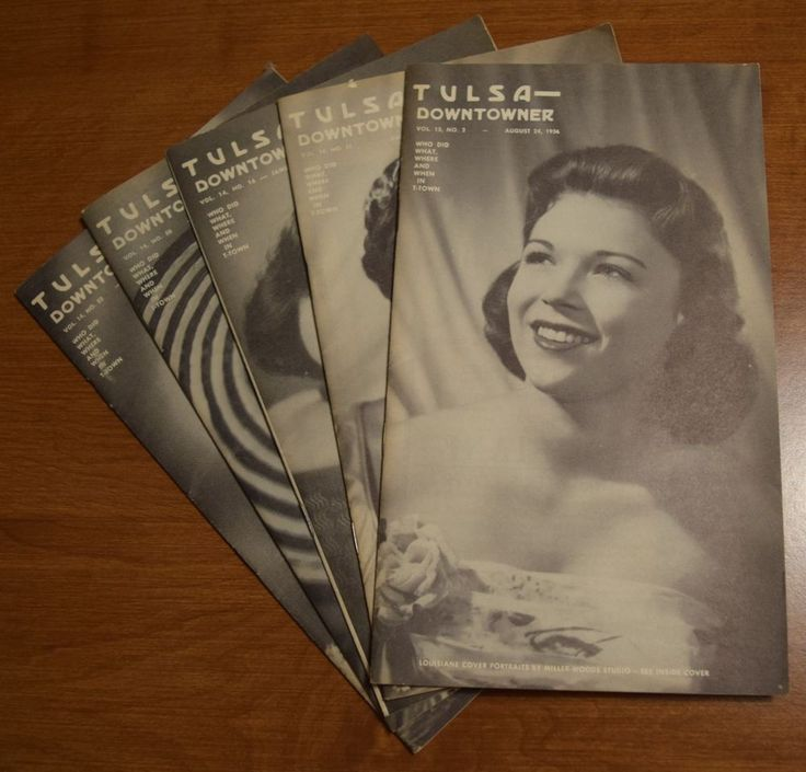 Tulsa Downtowner Oklahoma 5 pamphlets periodical lot 1956