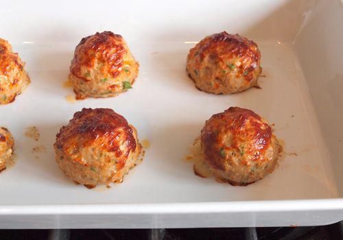 Chicken meatballs with tomato-balsamic glaze