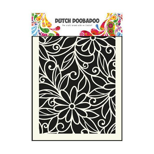Dutch Doobadoo Mask Art Stencil - A5 Flower Swirl #010 < Craft Shop | Cuddly Buddly Crafts