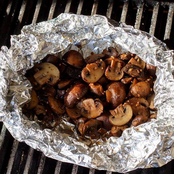 Butter-grilled mushroom bundles   – Grill Recipe Ideas