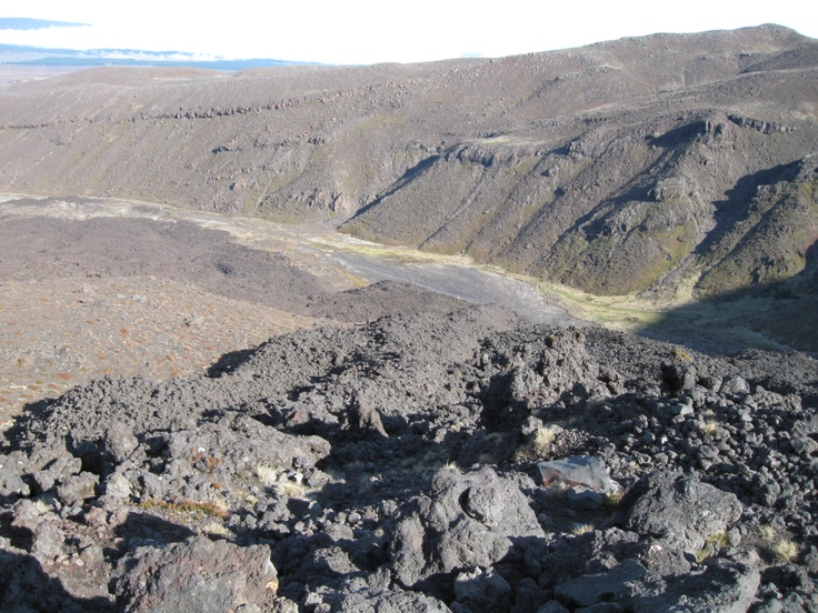 Last view down the Mangatepopo Valley before heading off across the craters