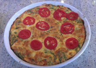 Quiche aux asperges et fromage feta