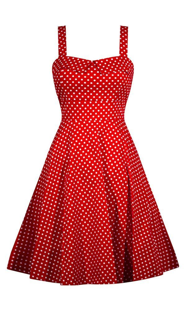 17 Best ideas about Red Polka Dot Dress on Pinterest | Flowy skirt ...