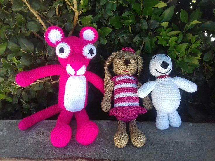 Pantera rosa, coneja y snoopi