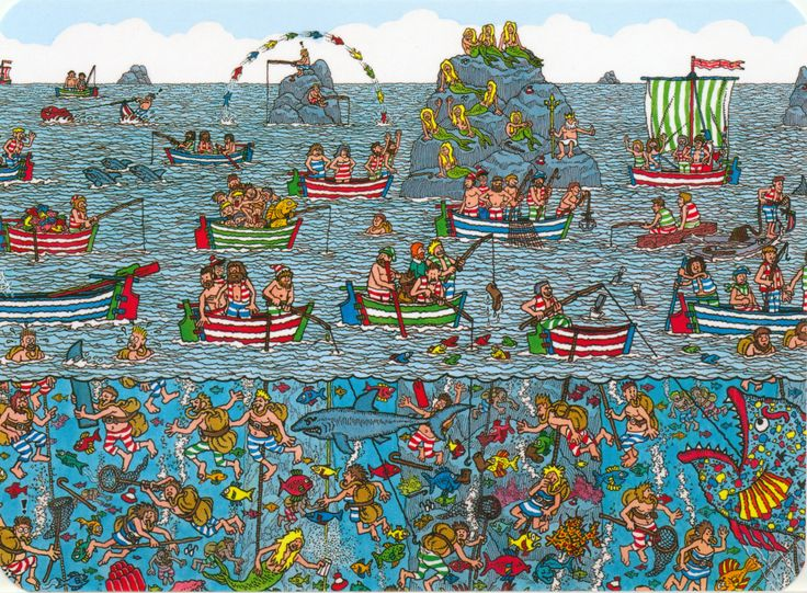 Where is Wally/Waldo? Postcard from Brumby in Adelaide, Australia