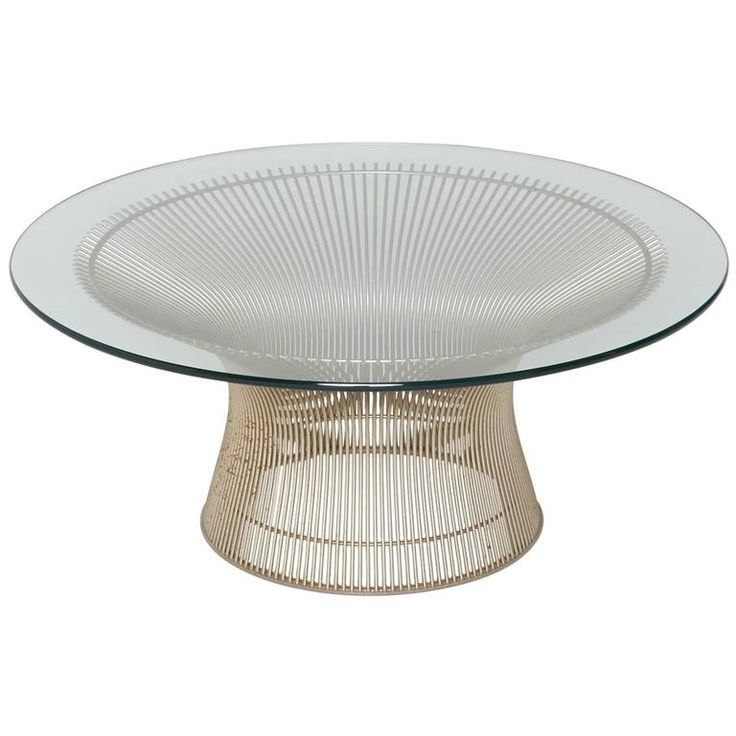 Warren Platner for Knoll International Coffee or Cocktail Table in Nickel For Sale at 1stdibs