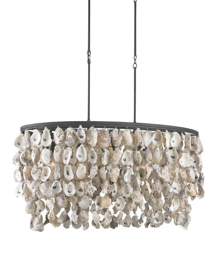 Stillwater oyster shell chandelier all natural shells