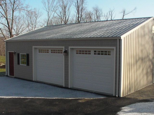 Prefabricated steel garage buildings and kits worldwidesteelbuldings garages workshops - Prefab garage kits home depot ...
