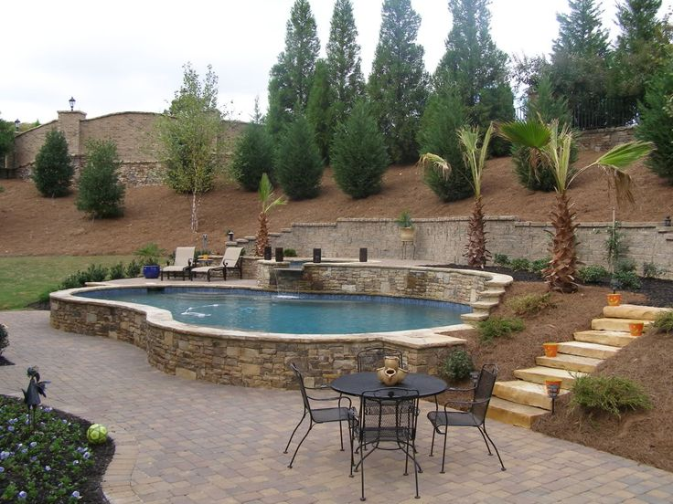 17 best images about pool ideas on pinterest california for Raised pool ideas