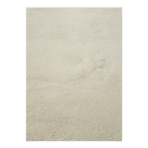Blank, Beach Sand Background, Invitation Paper, Size 5x7 Inches With Image  On Both  Blank Paper Background