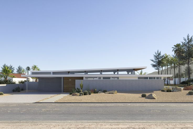 With post-and-beam construction, a thin roof profile, and an open floor plan that facilitates an interplay between the interior and exterior, the Dwell Prefab Palm Springs by Turkel Design bears all the signatures of the architecture firm. The show home is its first in California, which allowed Turkel and his team to put extra emphasis on indoor/outdoor living.