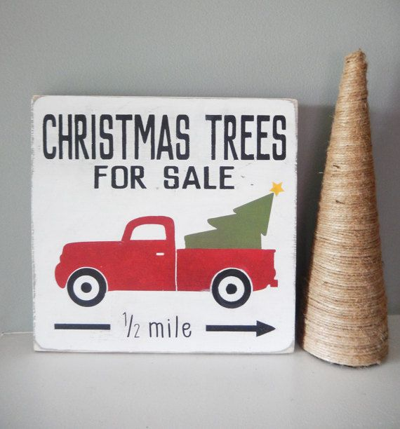 Christmas Trees for Sale Wood Sign by TheWillowRabbit on Etsy