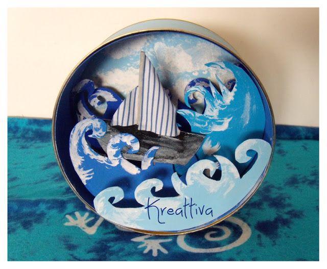Kreattiva: Il mare in una scatola e partecipate alla raccolta dell'estate!!!