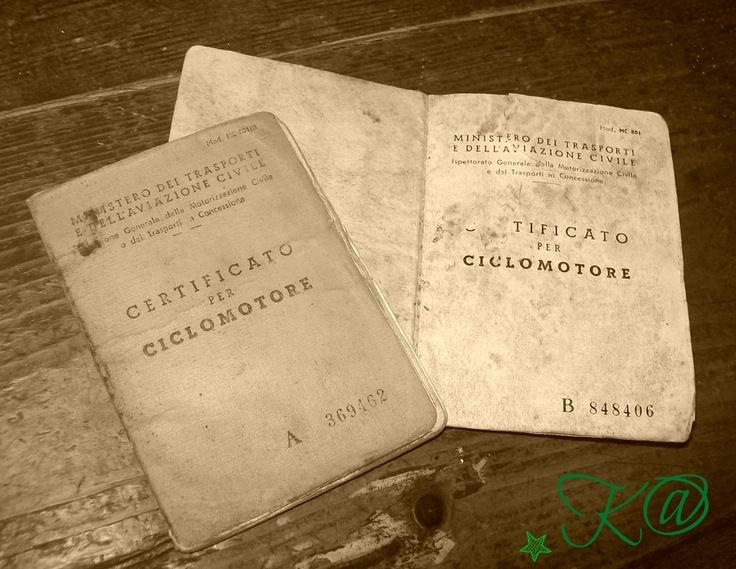 Certificati Ciclomotore