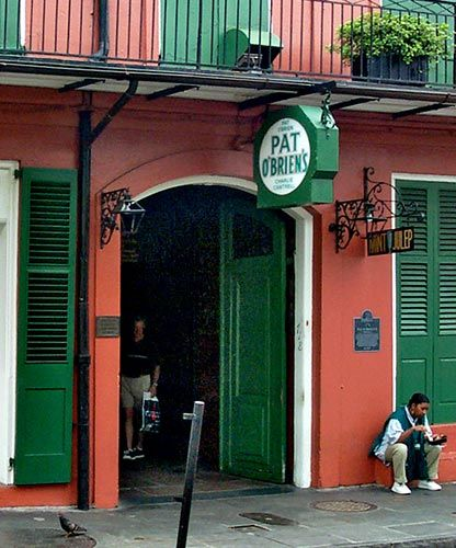 Pat O'Brien's in the French Quarter, infamous home of the Hurricane. Everyone's gotta try one at least once in a lifetime!