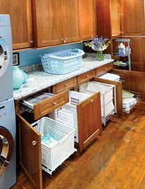Great Laundry storage idea