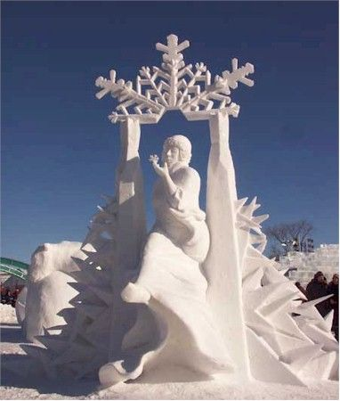 Canada: Canadian snow sculpture placed first at competition in Quebec