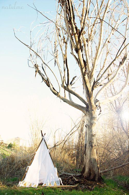 T-Shirt Tepee and DIY Indian Girl Dress