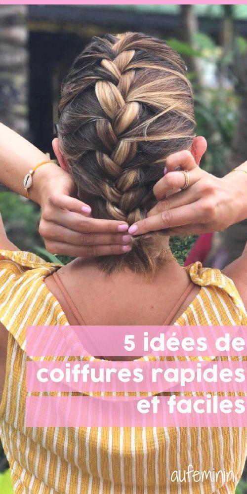 Idée Tendance Coupe & Coiffure Femme 2017/ 2018 :  : Les 5 idées coiffures rapides et faciles pour lété de YouMakeFashion #cheveu - #coiffure #coi...