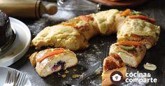 Rosca de Reyes rellena de queso con zarzamora al estilo de Sonia Ortiz por Cocina al natural