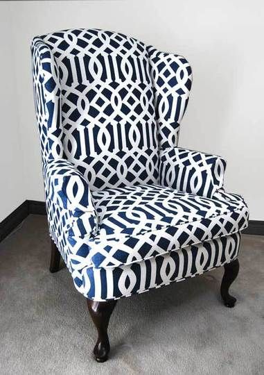 thats how I'm gonna upholster 2 wingback I purchaced at craigslist
