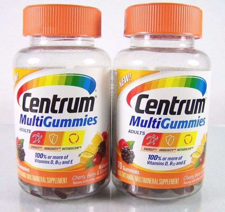 #Centrum #Multivitamin #Multimineral #vitamin and mineral #supplement #gummy #gummies for #energy #immunity and #metabolism in a lot/set of two (2) full size 70  piece count bottles for adults adult with #cherry #berry and #orange natural flavors, brand new and unused in original manufacturer's clear and orange plastic factory sealed retail protective packaging…