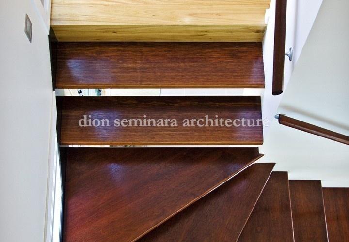 Wooden Staircase | Hamilton Queenslander Renovation | Brisbane Architects | dion seminara architecture