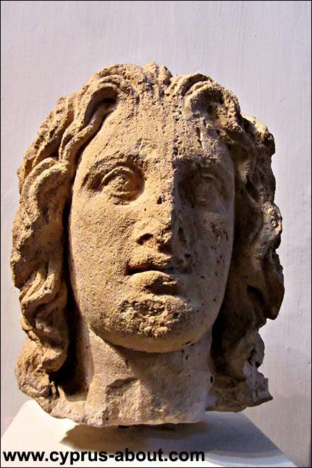 Alexander the Great. Limestone. Archaeological Museum in Nicosia. Cyprus