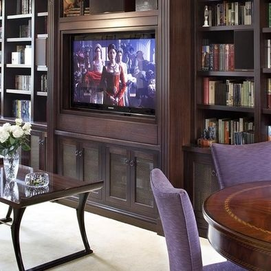 pivoting tv turning into bookcase traditional living room other metro by lindy donnelly