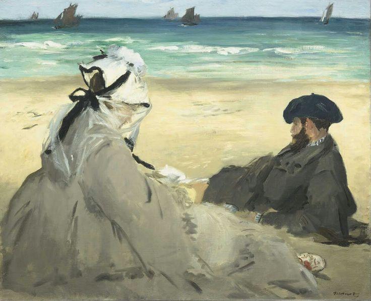 Edouard Manet, 1873, Op het strand, Musée D'orsay.