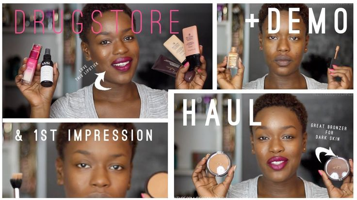 Drugstore Makeup Haul + Demo | Shea Moisture Loreal Wet n Wild #BlackRadiance #FirstImpression How I like the foundation and how I apply it... Primer to finish! + a HUGE #DrugstoreMakeup #Haul